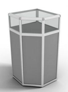 Прилавок угловой с алюминиевым профилем и стеклянной витриной